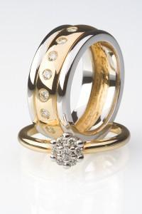 ein Ring mit Brillanten