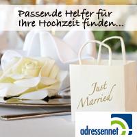 Hochzeit auf Adressennet.de finden