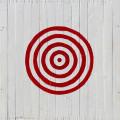 Zielscheibe auf Holzplatten