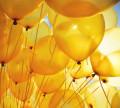 Gelbe Hochzeitsluftballons